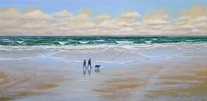 Beach Walking Series Of Oil Paintings By Frank Wilson